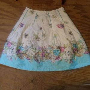 VTG Oscar de la Renta floral skirt